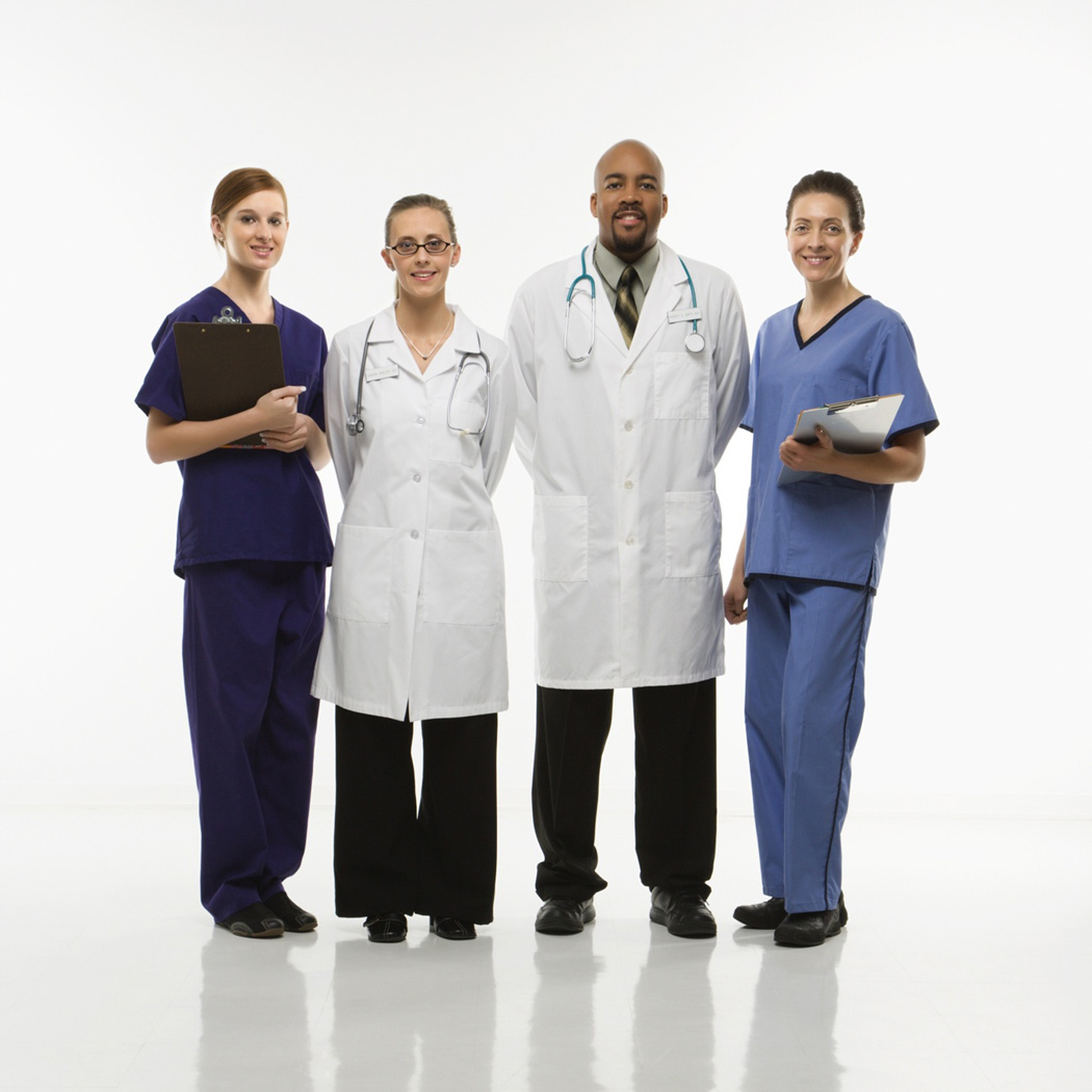color photograph  of doctors and nurses